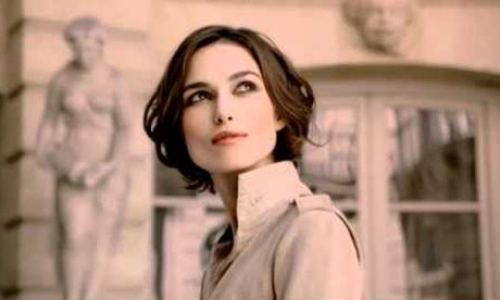 Keira Knightley in ad for Chanel's Coco Mademoiselle
