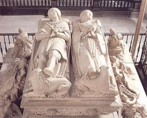 Sepulcro de Juana junto a su marido Felipe en la catedral de Granada