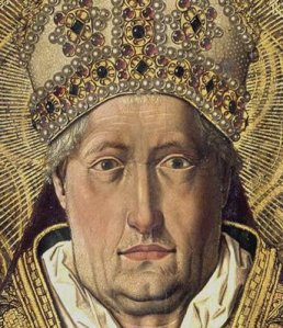 bartolomé bermejo. santo domingo de silos entronizado como obispo detalle